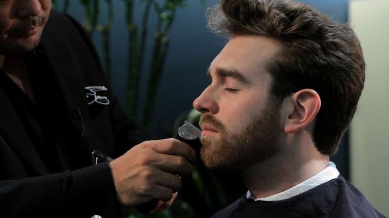Красивая стрижка бороды и усов